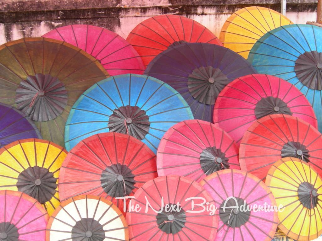 Umbrellas in Luang Prabang